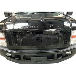 For Ford F-250 Super Duty 08-10 Status Grilles 3-pc Lime Green Mesh Main Grille