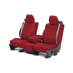 For Jeep Patriot 07-09 Caltrend Carbon Fiber 1st Row Red Custom Seat Covers
