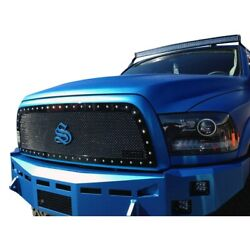 For Ram 3500 13-18 Status Grilles 1-pc Lime Green Mesh Main Grille