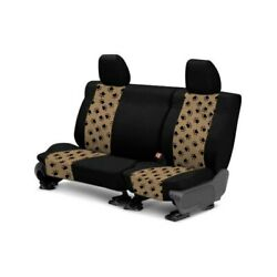 For Chevy Spark 13-15 Pet Print 2nd Row Black And Beige Custom Seat Covers