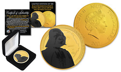 2018 Nuie 1 Oz Silver Darth Vader Star Wars Coin Black Ruthenium And 24k Gold Ls