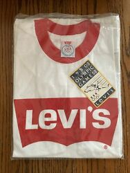 Rare Vintage New Unopened 1980 Olympic Levi's T-shirt Large Gold Medal Wr Read