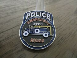 Nypd Emergency Squad Anything Anytime Anywhere Challenge Coin 187h
