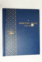 Mercury Dimes 1916-1945 Circulated 10c Missing 2 Coins In A Whitman Book