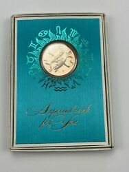 1970 Pisces Coin/medallion Franklin Mint Card By Gilroy Roberts