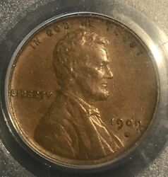 1909-s Vdb Lincoln Cent , Scarce Date. Pcgs Xf45 , Bn.