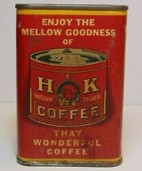 Old Vintage 1930s Hanley Kinsella Handk Coffee And Spice Graphic Spice Tin St. Louis