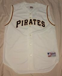 Authentic Mlb Jersey Pittsburgh Pirates Vintage Rawlings Home Blank Vest Vtg