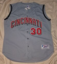 Authentic Mlb Jersey Cincinnati Reds Vintage Russell Athletic Griffey Road Vest