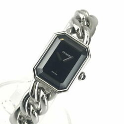 H3248 Women And039s Wristwatch Quartz Black Dial Stainless No.4347