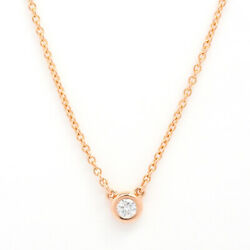 And Co. Pendant Necklace Elsa Peretti Diamond By The Yard 18k No.7020