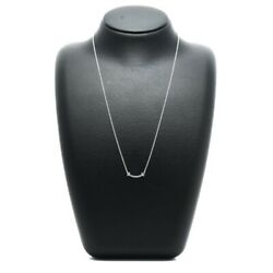 And Co. T Smile Mini Necklace K18wg X Blue Topaz No.5166