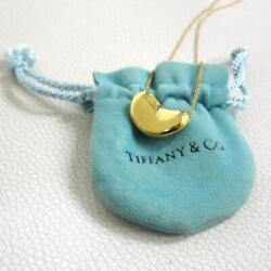Authentic With Drawstring And Co. Bean Pendant Necklace Large No.6663