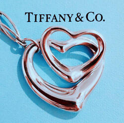 Sale  And Co. Xl Size Open Heart Link Necklace Pendant No.4283