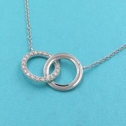 And Co. Double Circle Interlocking Necklace Rank Previously Owned No.9075