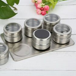 Magnetic Dust-proof Stainless Steel Seasoning Pot Spice Box For Outdoor Barbecue