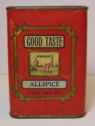 Old Vintage 1930s Norwine Coffee Company Good Taste Graphic Spice Tin St. Louis