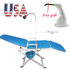 Portable Folding Dental Chair Unit Cuspidor Tray Mobile Equipment + Curing Light