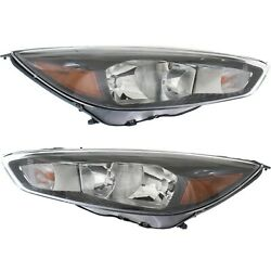 Headlight For 2015-2018 Ford Focus S Se St Pair Lh And Rh