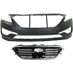 Bumper Cover Kit For 2015-2017 Sonata Front Models With Standard Type Bumper 2pc