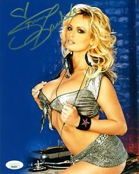 Stormy Daniels Authentic Hand-signed Sexy Adult Star Trump8x10 Photo Jsa Coa