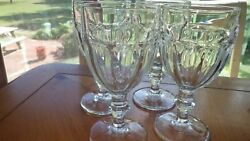 Libbey Duratuff Gibraltar Clear Water Goblets Glasses 4 12 Ounce Stems Euc