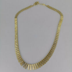 Magnificent Shine Necklace In Course Made Of High Quality 585 Gold