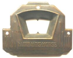 Vintage Fairbanks Morse Radio Brass Faceplate 1 And 13/16 Hi X 2 And 3/8 Wide