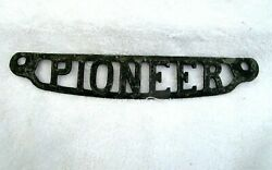 Pioneer Antique Cast Iron Decorative Emblem From Cook Stove Heater Plate 12.5