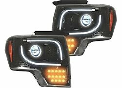 Recon 264273bkc Headlight With Led Turn Signal Light Fits Ford F150