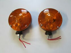 Tractor Caution Lights 2 Pk To Fit Case Ih John Deere Ford 2 Wires