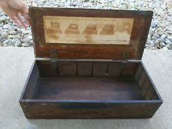 Antique Ferry Morse Wood Seed Box Store Advertising Display With Instructions