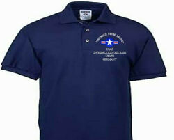 Zweibrucken Air Base Usafe Germany Usaf Embroidered Polo Shirt/sweat/jacket.