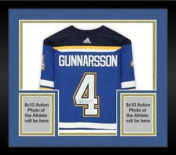 Frmd Carl Gunnarsson St Louis Blues Signed Blue Authentic Jersey And 2019 Sc Patch