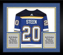 Frmd Alex Steen Stlouis Blues Signed Blue Authentic Jersey And 2019 Sc Final Patch