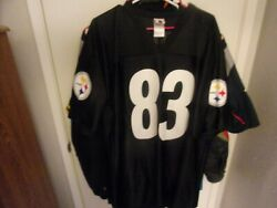 Pittsburgh Steelers 83 Heath Miller Football Jersey Size Man L By Nfl Players