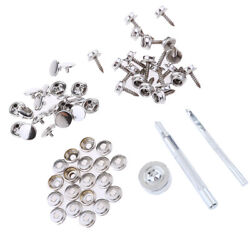 63pcs Boat Canvas Fabric Snap Cover 15mm Screw Button Socket Fastener Kit