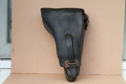 Old Original Rare Model Army German Leather Holster P08 Wwi Wwii