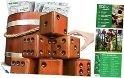Swooc Games - Yardzee, Farkle And 20+ Games - Giant Yard Dice Set All Weather