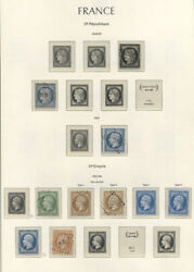 France 1849-1959 Cvandeuro9500.00 Collection In Lighthouse Album Mnh/used