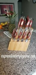 Rhineland Cutlery 20 Pc With 2 Bamboo Block 0n Sale Price Reduced Bargains Time
