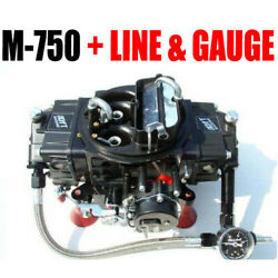 Quick Fuel M-750 Mech Gas Electric Choke Marine With J-tubes W Line Kit And Gauge