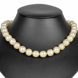 Coco Mark Turn Lock Pearl Necklace 43cm Gold Fittings Vintage 96 No.5443