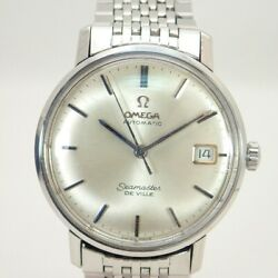 Omega Ss Seamaster Devil Menand039s Self-winding Watch With Silver Dial Date No.4088