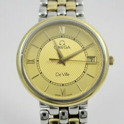 Previously Owned Omega Devil Prestige K18 Combination Mens Wristwatch No.4105