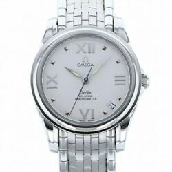 Omega De Ville Coaxial 4581.31 White Dial Previously Owned Wristwatch No.4230