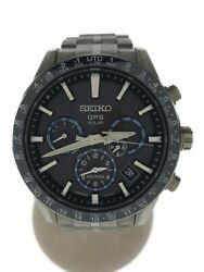 Previously Owned Seiko Solar Watch Analog Stainless Steel 5x53-0ab0 No.5872