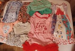 Lot Of Girl's Size 7-8 Clothes 8 Pieces Cat And Jack, Jelly The Pug, Assorted