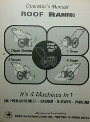 Roof Ramrod 4-in-1 Chipper-shredder Bagger Blower Vacuum Owner And Parts Manual