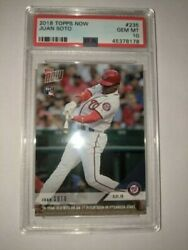 2018 Topps Now /6815 Juan Soto 235 Psa 10 Rookie Rc Homer On First Mlb Pitch